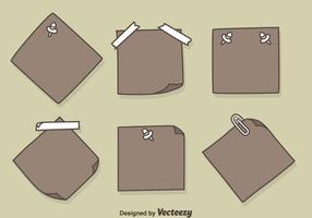 Desenhado mão Sticky Notes Vectors