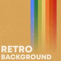 fundo de textura grunge retrô com listras coloridas vintage vetor