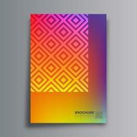 cartaz de desenho abstrato com losango e textura gradiente vetor
