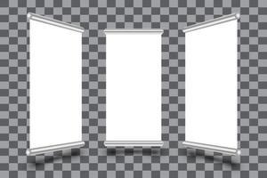 conjunto de modelo de quadro de banners de enrolar verticais vetor