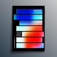 design de modelo de textura gradiente vetor