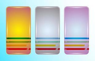 conjunto de modelos de design retro de capa para smartphone vetor