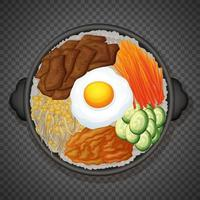 bibimbap comida coreana em fundo transparente vetor