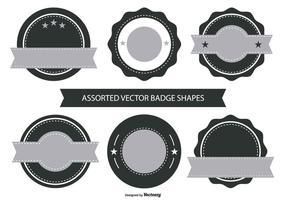 Coleção Forma emblema retro vetor