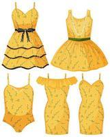 isolado lindo vestido feminino vetor