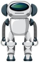 robô isolado em fundo branco vetor