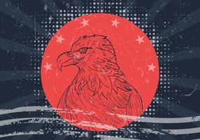 American Eagle Seal com bandeira americana vetor