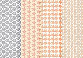 Vector coleção de padrões florais