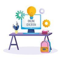 educação online durante surto de coronavírus vetor