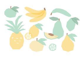 Coleção do vetor de mão Frutas Drawn