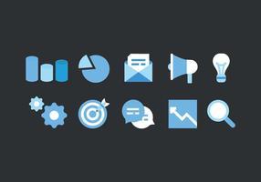 Vector Jogo dos ícones de Marketing