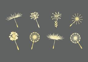 Free Vector Dandelion Icons
