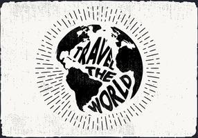Free Hand fundo desenhado Terra vetor