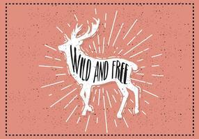 Free Hand fundo desenhado cervos vetor