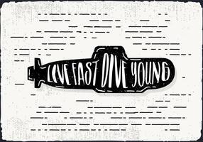 Free Hand fundo submarino Drawn vetor