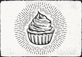 Free Hand fundo desenhado Cupcake vetor