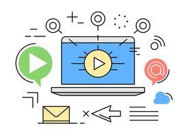 Digital Vector Marketing de Ilustração