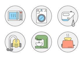 Free Style Linear Household Objects vetor