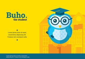 Vector Character Buho Student