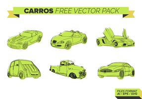Verde Carros grátis Pacote Vector