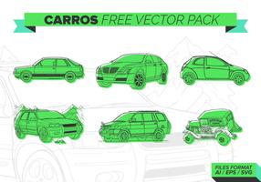 Cal verde Carros grátis Pacote Vector