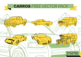 Amarelo Carros grátis Pacote Vector