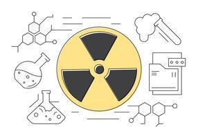 Ciência e Química ícones linha fina