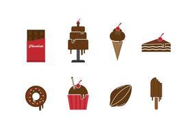 Set Free de ícones do chocolate vetor