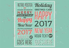 Marquee retro do feriado Poster Vector