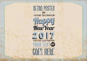 Cartão do feriado de inverno do vintage vetor