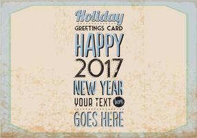 Vector o cartão do feriado do vintage