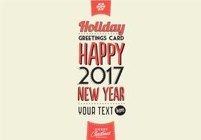 Cartão de cumprimentos invernal férias Vector