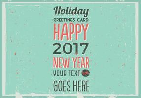 Vector o cartão do feriado retro