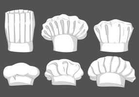 Conjunto do vetor do chapéu do cozinheiro chefe