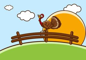 Selvagem oriental Turquia vetor