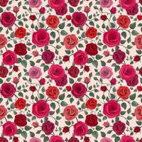 fundo colorido detalhado de rosas vetor