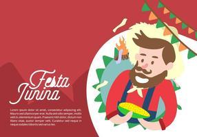 Festa junina background vetor