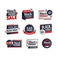 etiquetas de liquidação da sexta-feira negra vetor