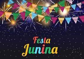 Fundo do molde Junina Festa vetor