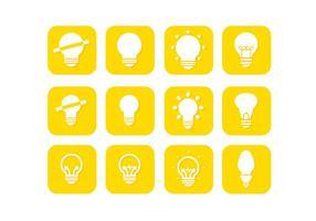 Livre Ampola amarela Coleção do vetor