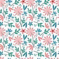 padrão sem emenda de flor pastel vetor