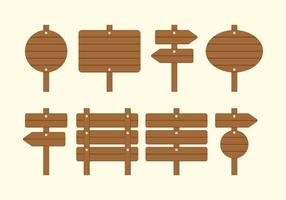 Placa em branco Sinal de madeira Madeira vetor