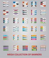 designs de modelos de banner modernos para web vetor