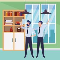 empresários parceiros no escritório