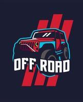 mascote do carro off road vetor