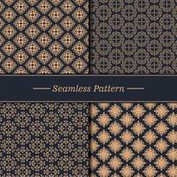 conjunto de textura de padrão de luxo vetor