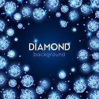 fundo de diamante realista vetor