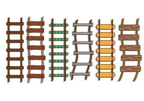 escada de corda conjunto de ilustração vetorial vetor