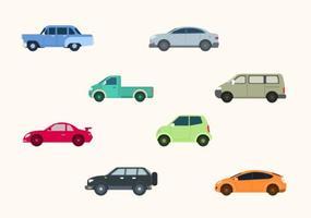 Coleção plana Vector Car