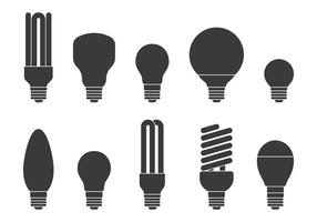Ícones lâmpada Definir vetor